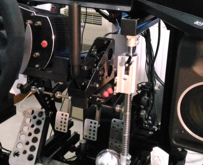HSR Mini Button box installed under ShiftR