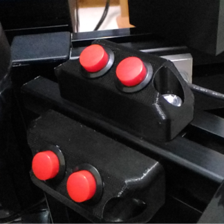 HSR Mini Button boxes installed close to the gear shifter