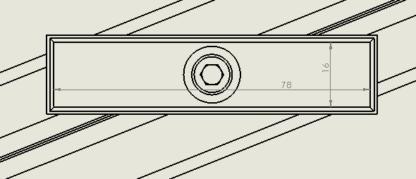 sizing for Phone Holder for Aluminium Profile